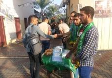 استقبال طلاب جامعة فلسطين بخانيونس
