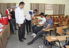 حملة تبرع بالدم في الكلية الجامعية للعلوم التطبيقية فرع خانيونس