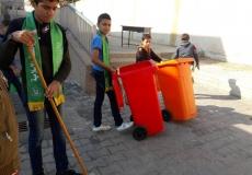 عقدت الكتلة الاسلامية في مدرسة جعفر بن أبي طالب حملة تطوع ونظافة
