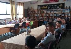 تنظيم محاضرات تثقيفية وعلمية  في مدرسة خليفة بشمال غزة