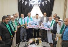 حركة حماس و الكتلة الإسلامية بمحافظة رفح تزور الطلاب الأوائل بالثانوية العامة فى المحافظة ضمن حملة تهانينا