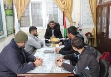 حملة زيارات لعدد من مدراء المدارس الثانوية غرب غزة