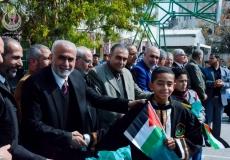 حفل تكريم المتفوقين في مدرسة بيت لاهيا  الإعدادية  بحضور قيادة حماس ورئيس بلدية بيت لاهيا وشخصيات اعتبارية