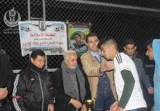الكتلة الاسلامية في الزوايدة تختتم بطولة الشهيد احمد جهاد العايدي وتكرم الفريق الفائز