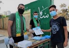 استقبال الكتلة بغرب غزة لطلاب الثانوية خلال استلامهم للكتب