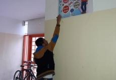 صور || من تعليق البوسترات الخاصة بالمشروع الدعوي تألق لمدرستي جمال عبد الناصر ومدرسة ودار الأرقم النموذجية