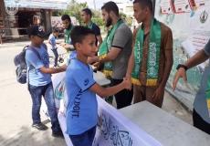 الكتلة الإسلامية في مدارس الوسطى الإعدادية تستقبل الطلاب بمناسبة العام الدراسي الجديد