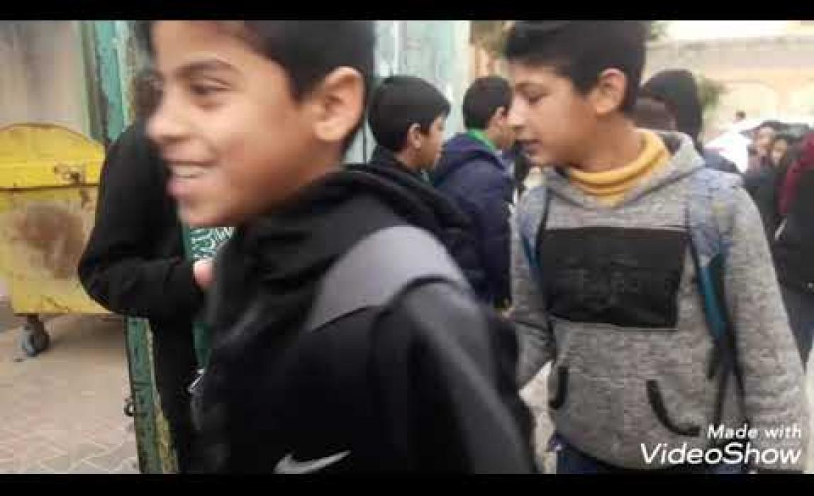 جانب من حملة الصلاة على رسول الله فى مدارس غرب غزة
