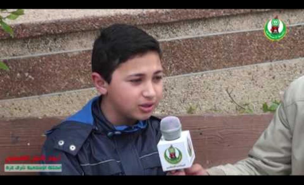 الطالب المنشد :: محمد الحلو يقدم نشيدة بيوم الأسير الفلسطيني.