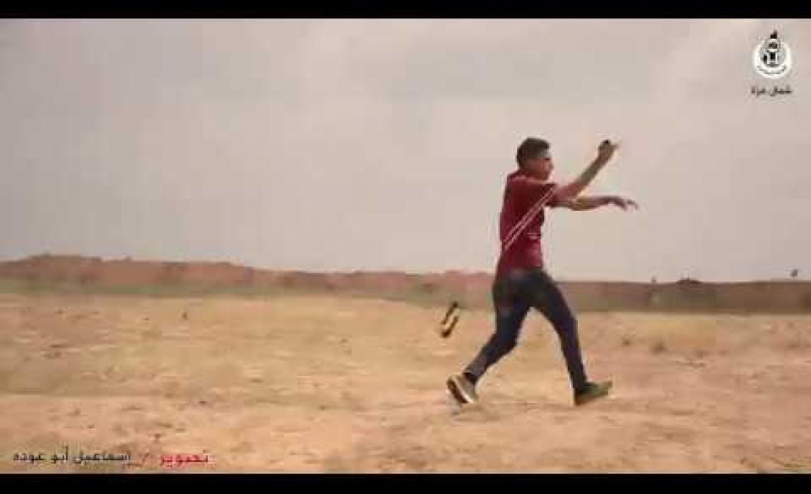 شاهد مشاهد تعرض لأول مرة في 30مارس من مسيرة العودة الكبرى شرق جباليا شمال غزة